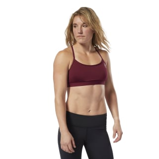 Reebok CrossFit Front Rack Sports Bra Rustic Wine D94956