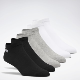 Active Core Low-Cut Socks 6 Pairs White / Black / Medium Grey Heather FL5323