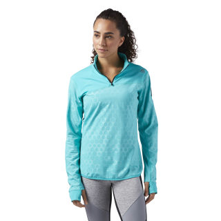 Sudadera HEXAWARM Quarter Zip Turquoise/Solid Teal CF3219