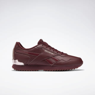 Reebok Royal Glide Ripple Clip Shoes Lux Maroon / Rose Gold / Pear DV6706