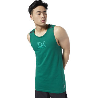 Camiseta sin mangas LES MILLS® Performance Cotton Clover Green ED0570