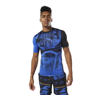 T-shirt de compression Training Crushed Cobalt DU3957