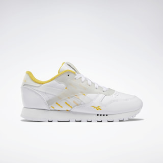 Classic Leather ATI Shoes White / Toxic Yellow / Glass Blue FU6866