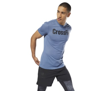 Спортивная футболка Reebok CrossFit Speedwick F.E.F. Graphic blue slate DH3703