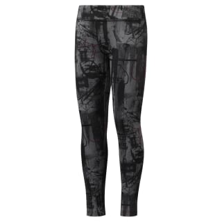 Girls' Reebok Adventure Workout Ready Leggings Black DH4310