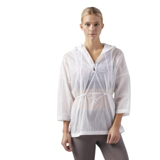 Lightweight Reflective Poncho White CD5455
