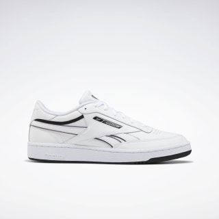 Club C Revenge Shoes White / Black / Silver Metallic EG4286