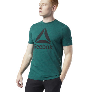 Camiseta Training Essentials Marble Melange Clover Green EC0808
