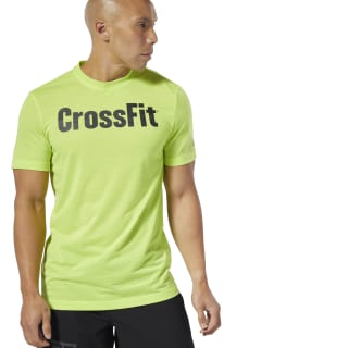 Reebok CrossFit Speedwick F.E.F. Graphic T-Shirt Neon Lime DT2774
