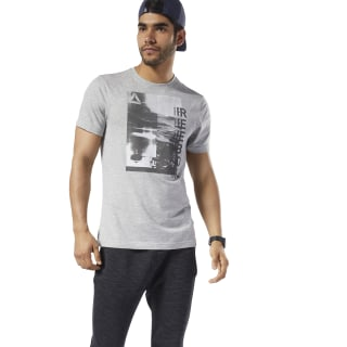 T-shirt Graphic Series One Series Training Photo Print Medium Grey Heather EC2066