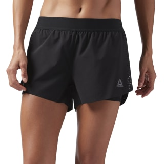 2-in-1 Perforated Shorts Black CV3759