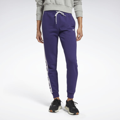 Women Fitness & Training Purple Linear Logo French Terry Joggers