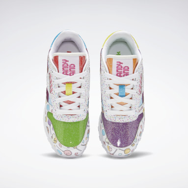 Kids Classics White Candy Land Classic Leather Shoes