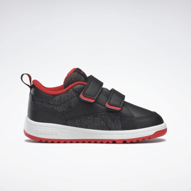 Kids Classics Black Weebok Clasp Low Shoes - Toddler