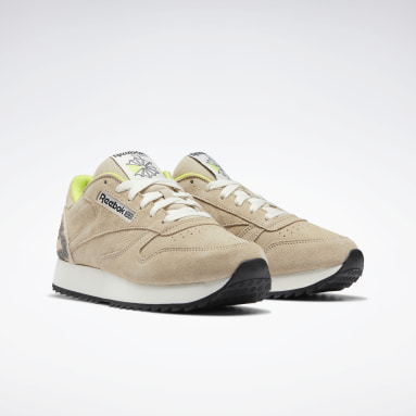 Classic Leather Ripple Beige Mujer Classic
