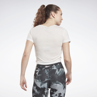 Women Fitness & Training White MYT Cinched Top