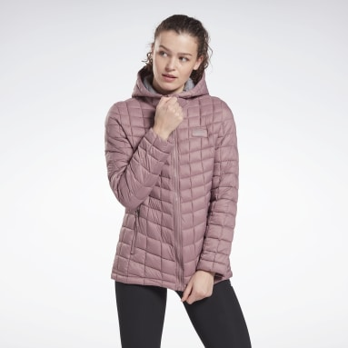 Women Fitness & Training Pink Packable All Weather Jacket