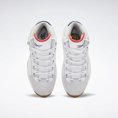 Classics White Question Mid Basketball Shoes