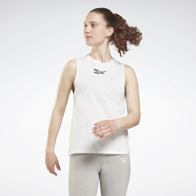 Women Training White Training Essentials Muscle Graphic Tank Top
