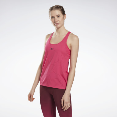 Women Training Pink United By Fitness Perforated Tank Top