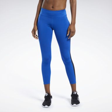 Women Fitness & Training Blue Workout Ready Logo Tights
