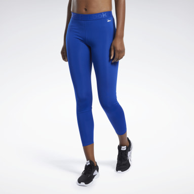 Women Fitness & Training Blue Workout Ready Commercial Tights