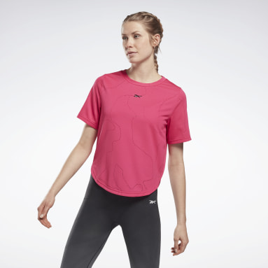 Women Fitness & Training Pink United By Fitness Perforated T-Shirt