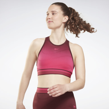 Women Fitness & Training Burgundy United By Fitness Seamless Crop Long-Sleeve Top