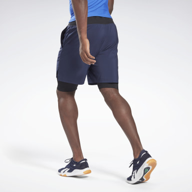 Men Cross Training Blue Epic Two-in-One Shorts