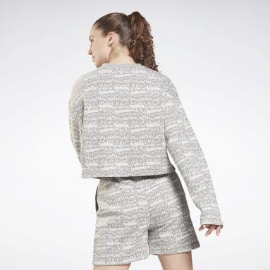 Women Fitness & Training Grey MYT Printed Long Sleeve Cover-Up