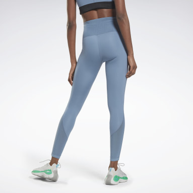 Women Fitness & Training Blue Les Mills® Lux Perform High-Rise Tights