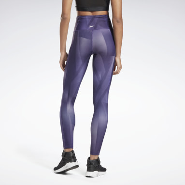Dames Dance Paars Lux Bold High-Rise Vector Block Legging