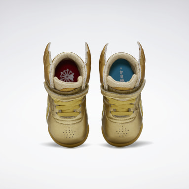 Girls Classics Gold Freestyle Hi Shoes - Toddler