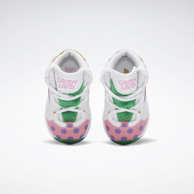 Kids Classics White Candy Land Question Mid Shoes - Toddler