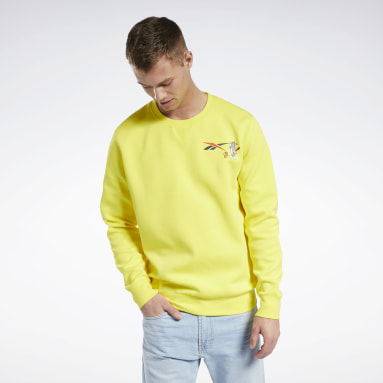 Classics Yellow Tom and Jerry Crew Sweater
