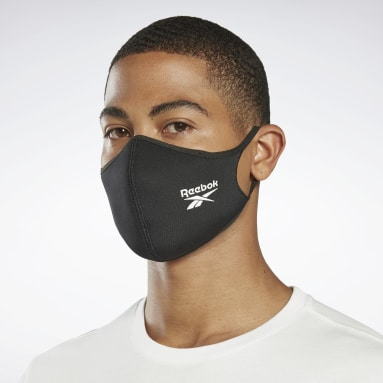 Fitness & Training Black Face Covers 3-Pack M/L - Not For Medical Use