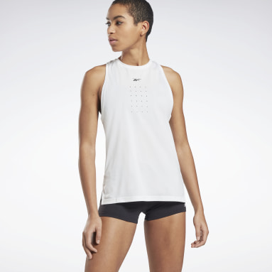 Camiseta sin mangas United by Fitness Perforated Blanco Mujer Deporte