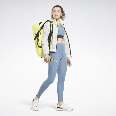 Top corto Les Mills® Beyond The Sweat Blu Donna Ciclismo