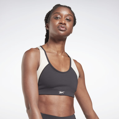 Bra Lux Racer Padded Colorblock Sports Nero Donna HIIT