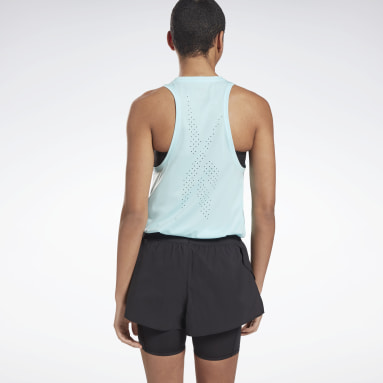 Canotta United By Fitness Perforated Blu Donna Cross Training