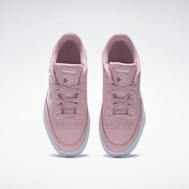 Women Classics Pink Club C Stacked Shoes
