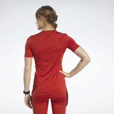 T-shirt Workout Ready Supremium Rouge Femmes Fitness & Training