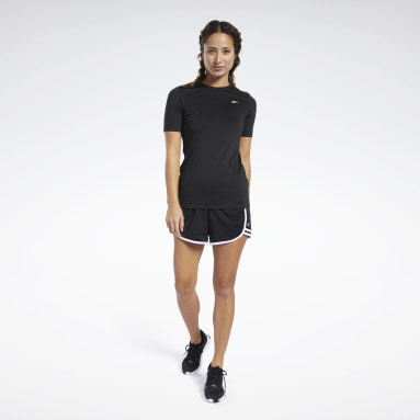 Polo Workout Ready Supremium Negro Mujer Running