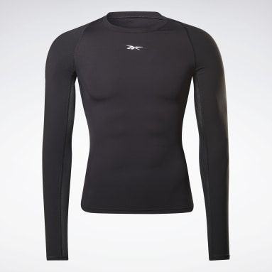 Men Gym & Training Black United By Fitness Compression Long Sleeve Shirt
