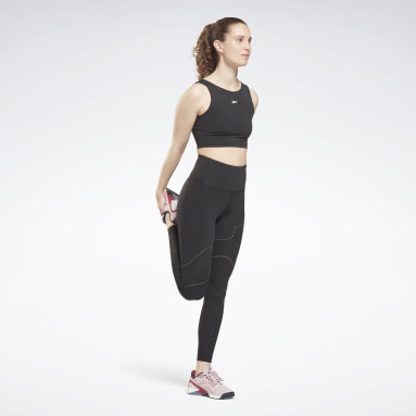 Dames Fitness & Training Zwart Lux Perform High Rise Perforated Legging