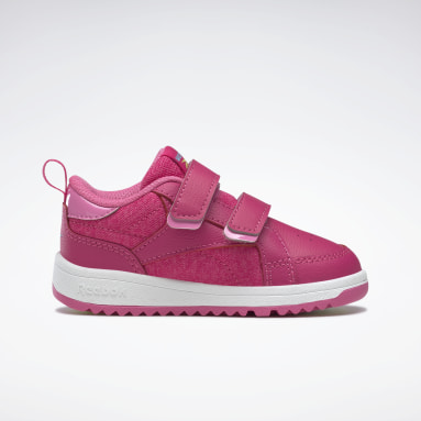 Infants Classics Pink Weebok Clasp Low Shoes