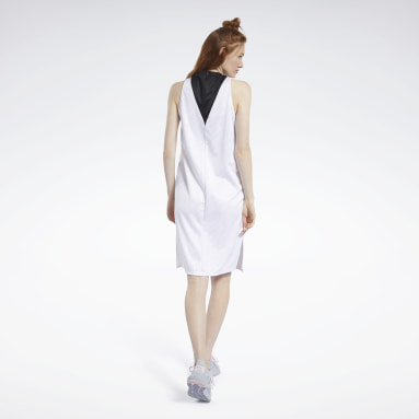 Women Fitness & Training White Meet You There Basketball Dress