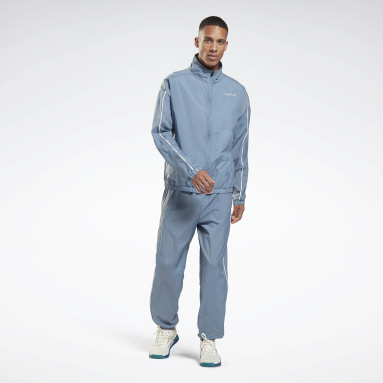 Men Lifestyle Blue Training Essentials Piping Tracksuit
