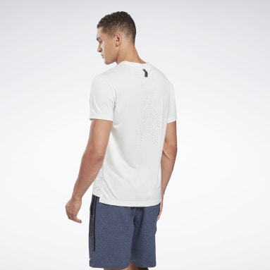 Men HIIT White United By Fitness Perforated T-Shirt