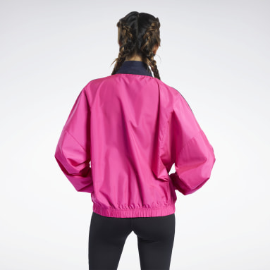 Giacca Training Essentials Woven Linear Logo Rosa Donna Fitness & Training